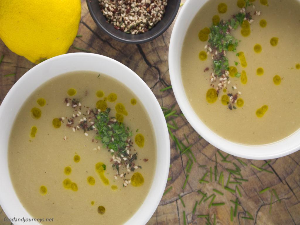 Smoky Eggplant Soup|foodandjourneys.net