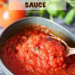 Pinterest Image for How to Make Marinara Sauce