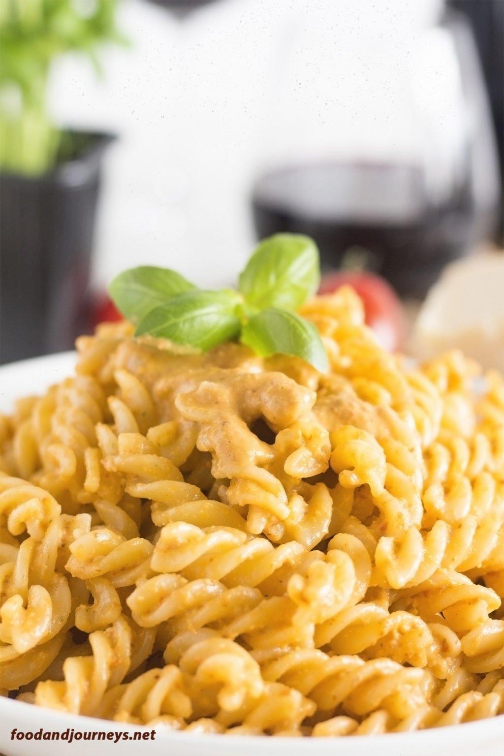Fusilli with Pesto Trapanese pic1|foodandjourneys.net