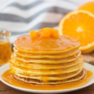 Orange & Mandarin Ricotta Pancakes