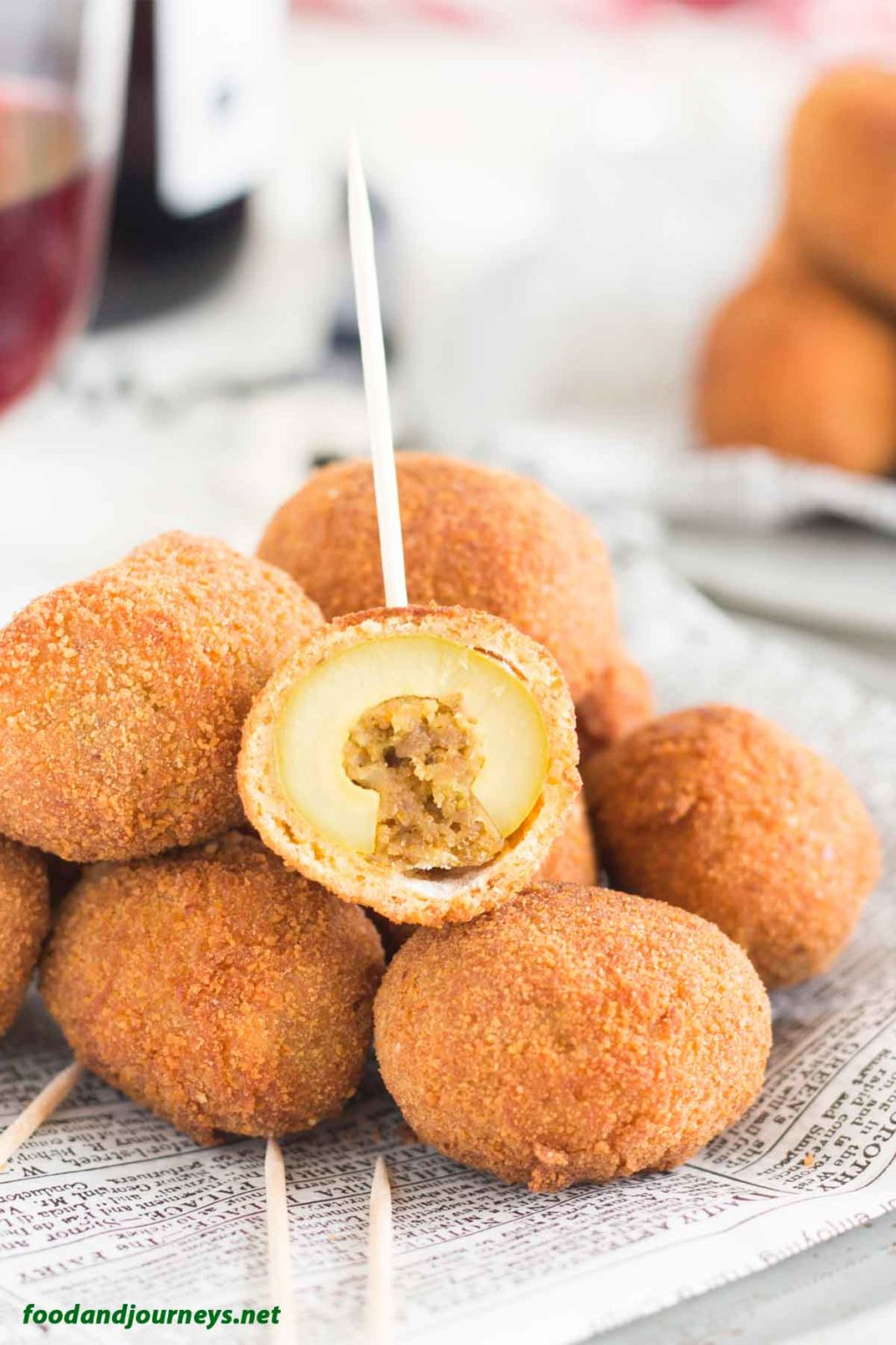 Fried Stuffed Olives PIC1|foodandjourneys.net