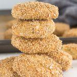 Pinterest image for Sicilian Sesame Seed Cookies (Biscotti Regina).