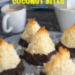 Pinterest image for Swedish Coconut Bites.