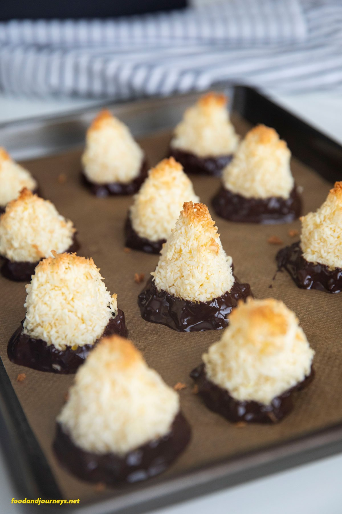 A tray of Swedish Coconut Bites, cooling off.