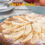 Pinterest image for Tuscan Apple Cake, also known as Italian Apple Cake.
