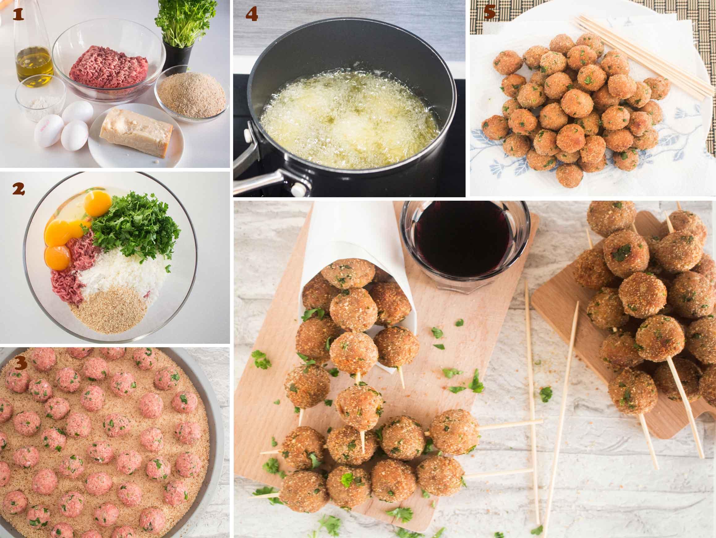 Steps on how to make Mini Meatballs (Polpettine di carne)|foodandjourneys.net