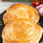 Pinterest PIN for Tomato and Mozzarella Pastry (Rustico Leccese). A treat that can be served as an appetizer or snack!