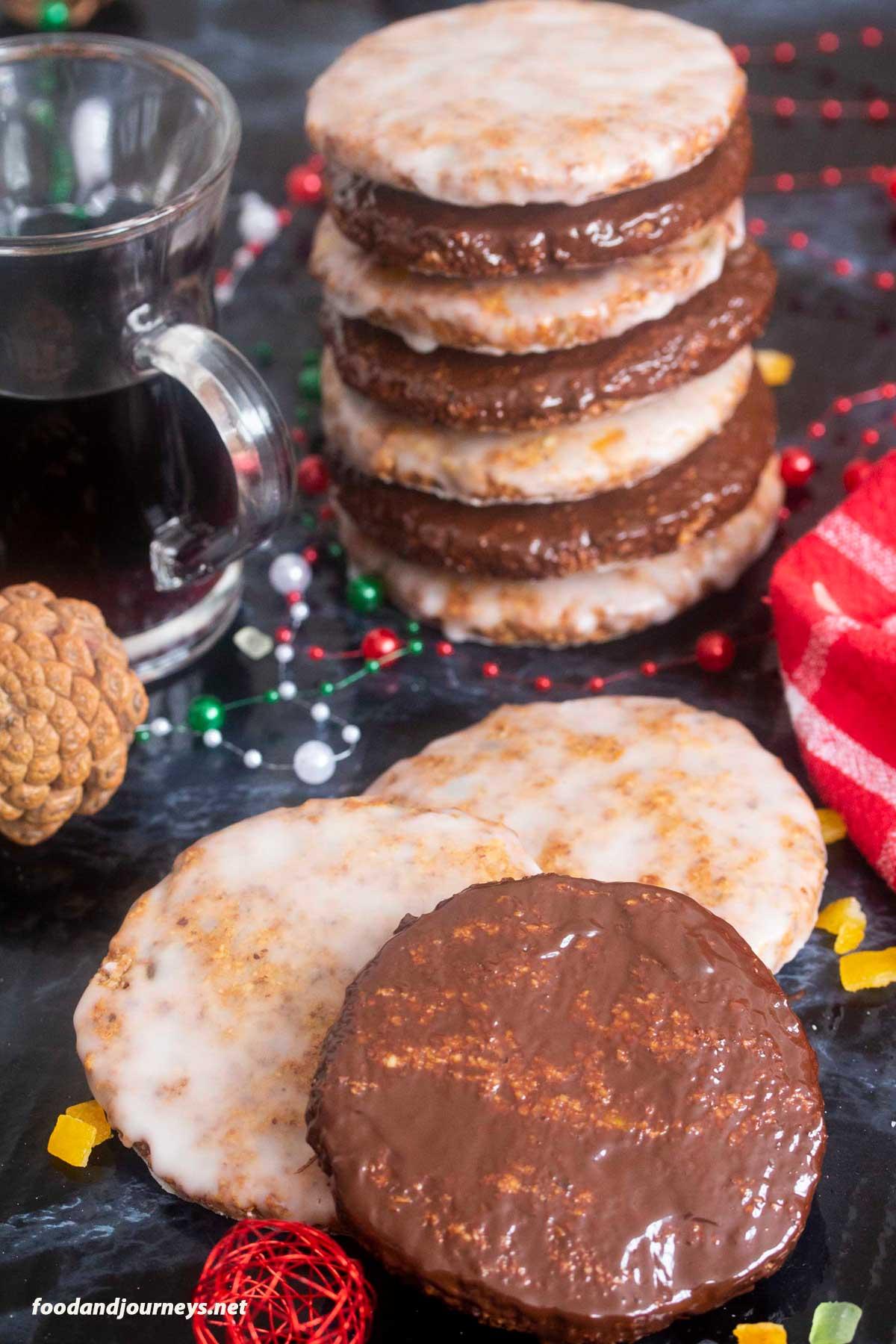 An image of German Flourless Christmas Cookies (Elisenlebkuchen)