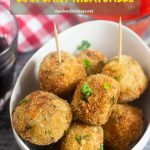 Pinterest Image for Neapolitan Eggplant Meatballs (Polpette di Melanzane)