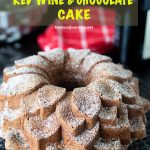 Pinterest image for German Red Wine and Chocolate Cake