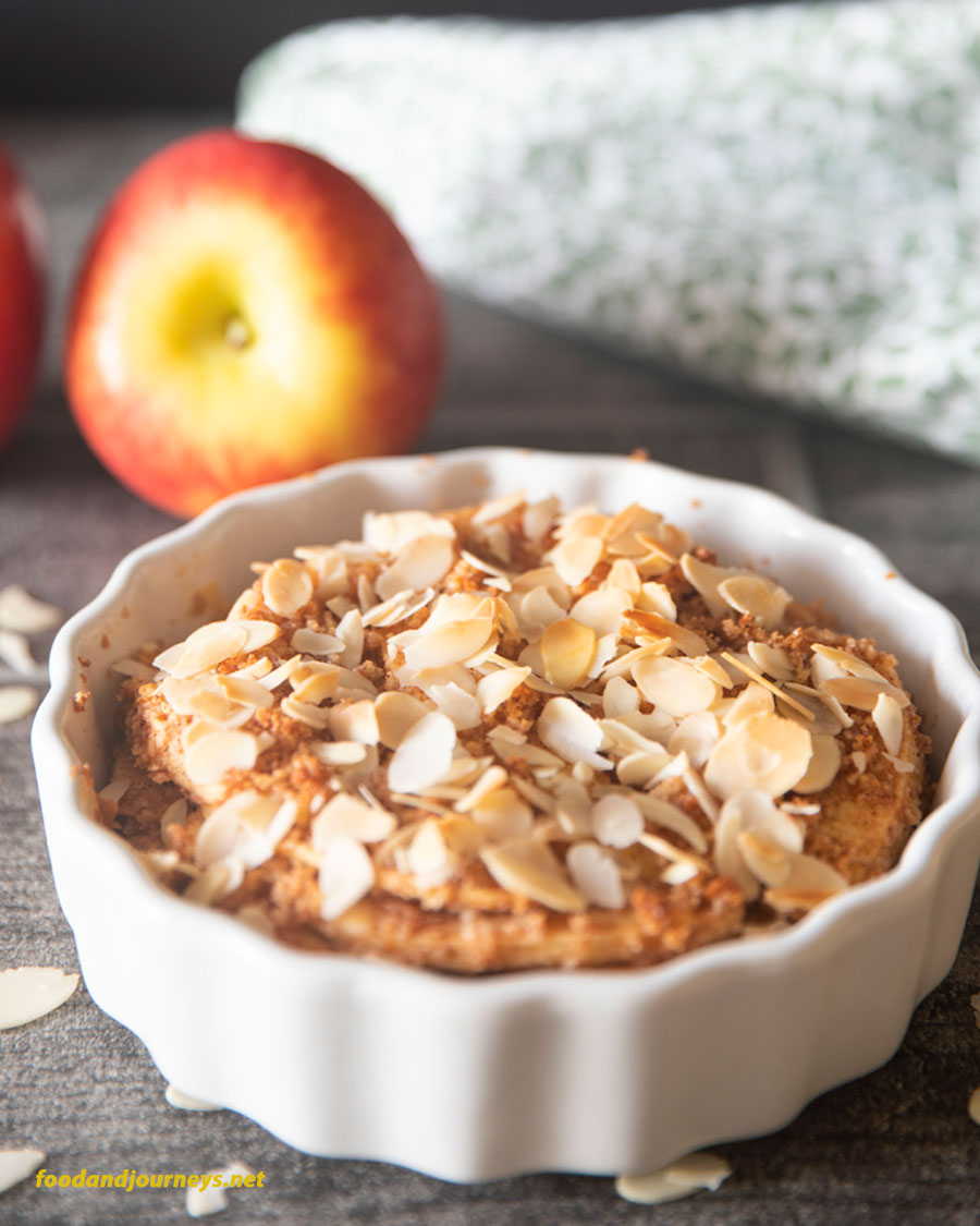 Cornerstone image for Swedish Apple Crumble, ready for serving