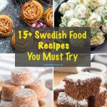 Cover page for a Swedish Food Recipes You Must Try, showing a combination of savory and Swedish desserts.