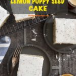 Pinterest image for French Lemon Poppy Seed Cake
