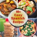 A collage of images showcasing various types of Spanish dishes.