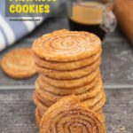 Pinterest image for Puff Pastry Pinwheel Cookies.