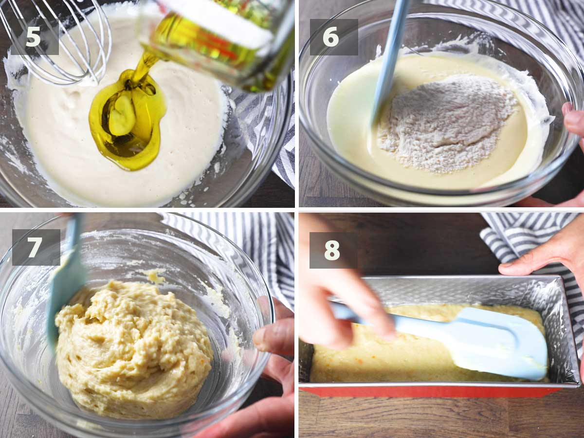 Last part of a collage of images showing the step by step process on how to make French Yogurt Cake.