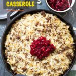 Pinterest image for Finnish Ground Beef & Cabbage Casserole