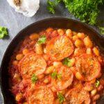 Pinterest image for Greek Baked Giant Beans