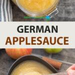 Pinterest Image for German Applesauce (Apfelmus)