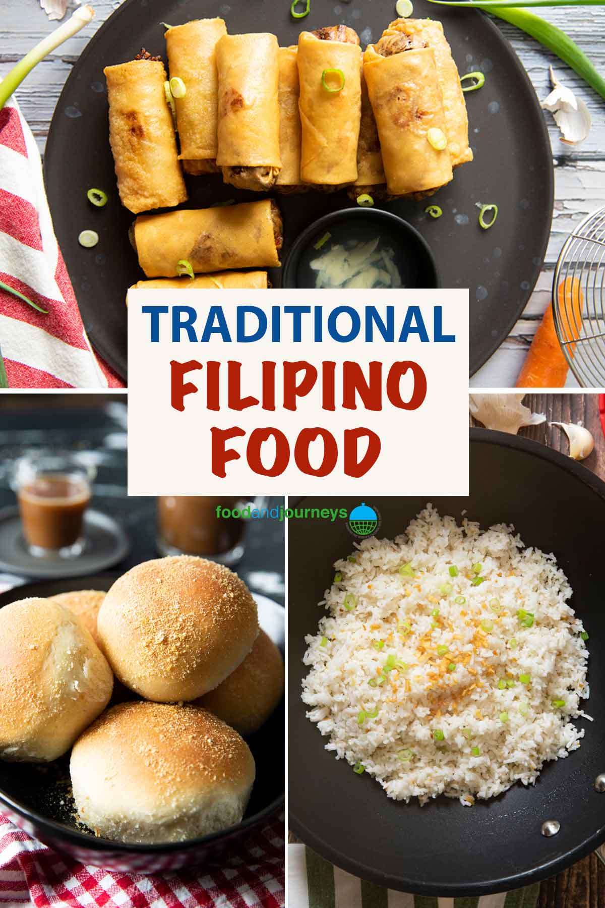 An image showing a collage of traditional Filipino dishes.