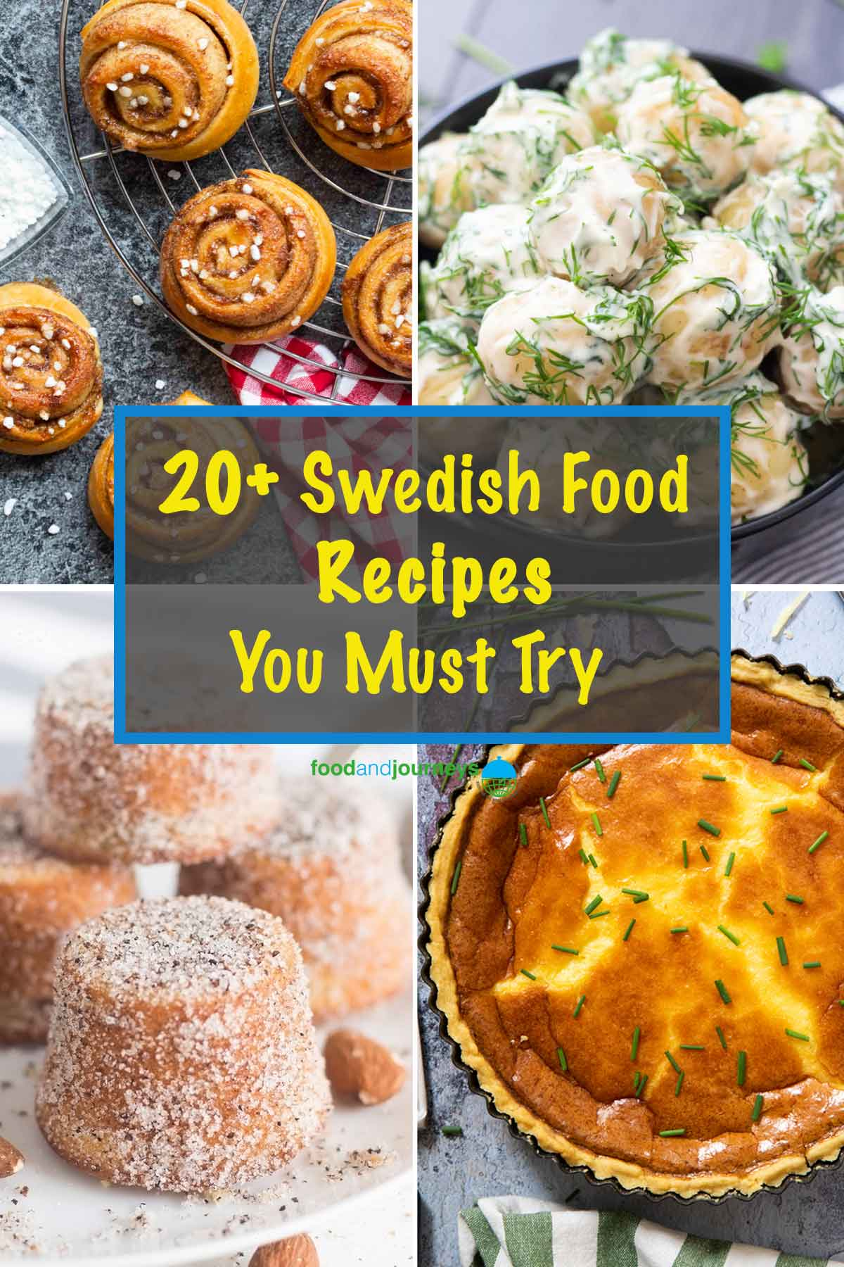 A collage of images showing various Swedish dishes.