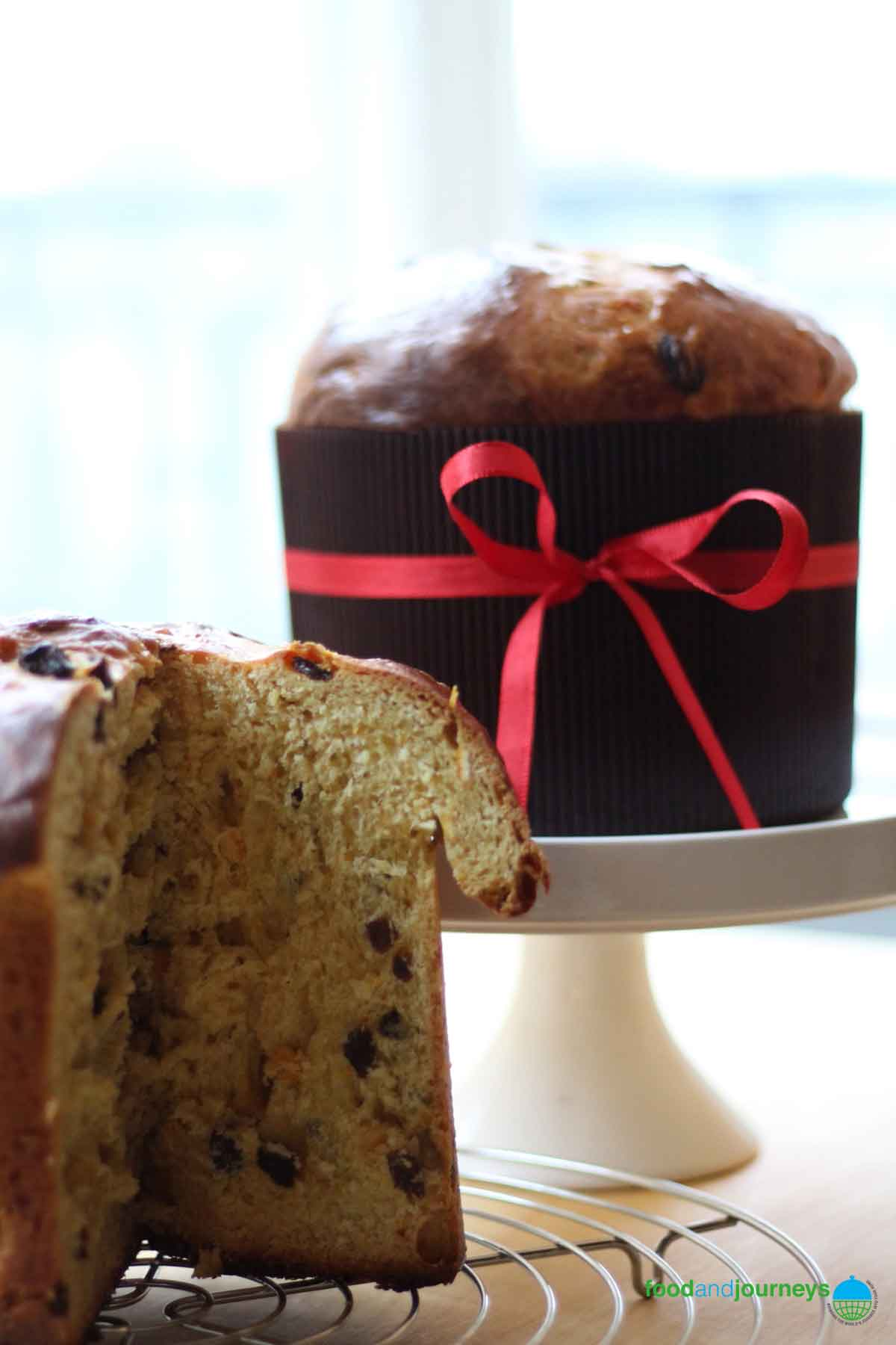 A classic Italian Christmas Cake, Panettone is great with coffee, tea or dessert wine.