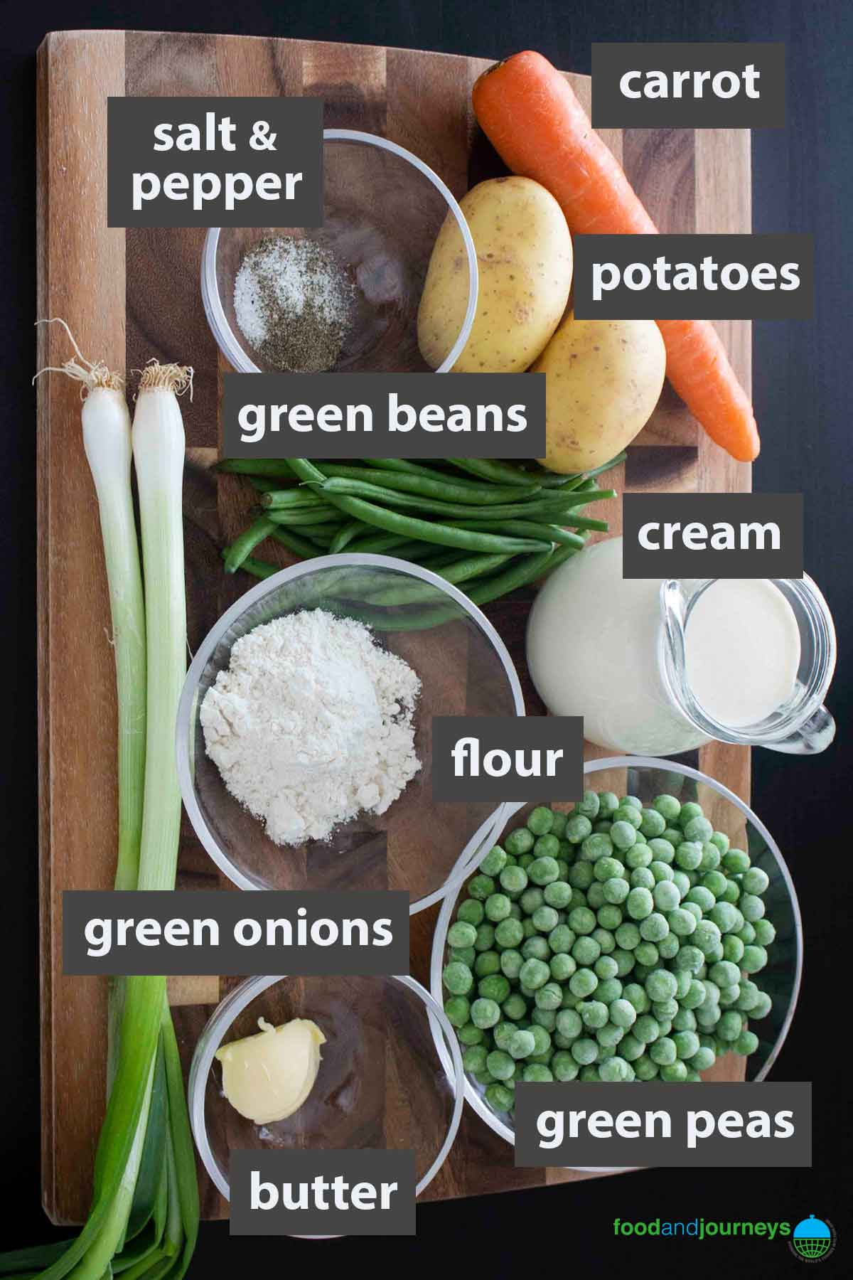 An image showing all the ingredients you need to prepare summer vegetable soup at home.
