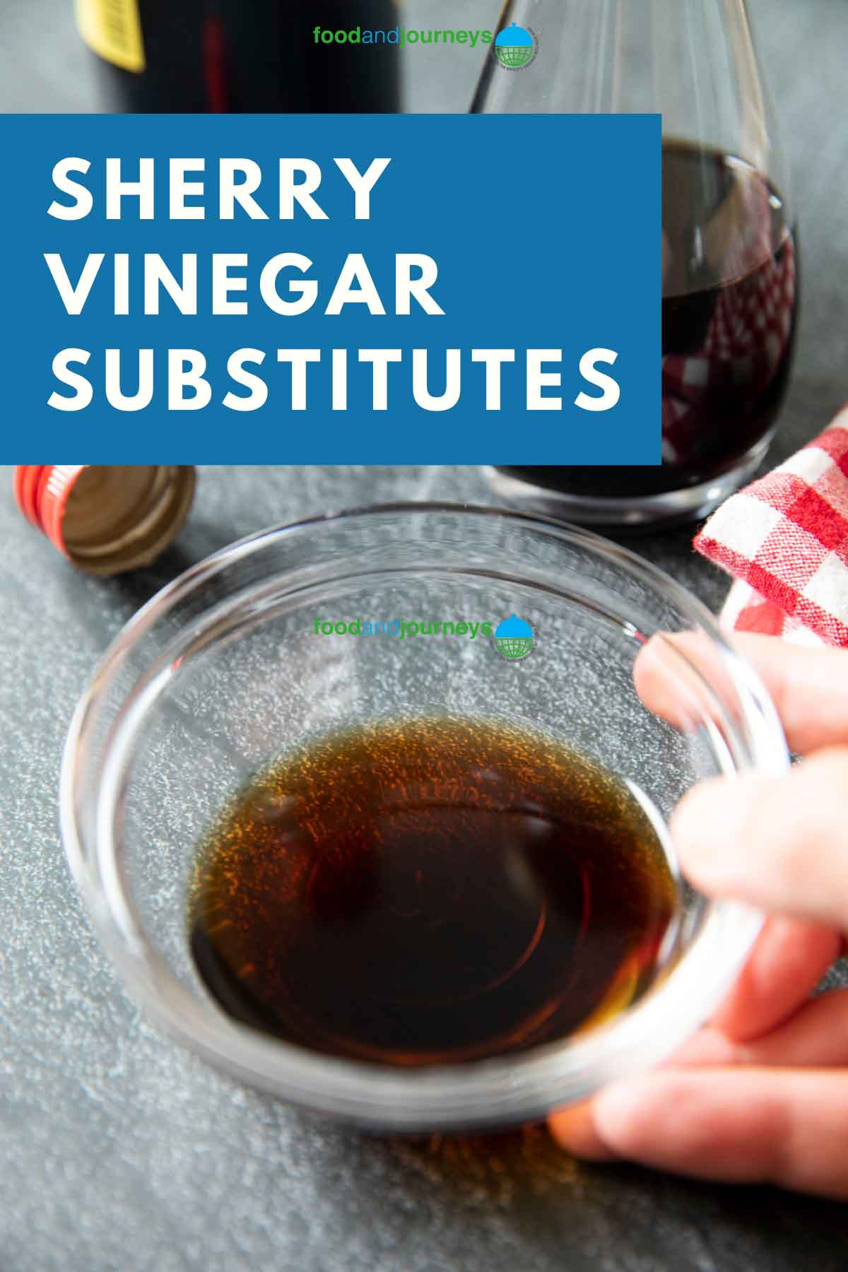 Main image for Best Sherry Vinegar Substitutes showing sherry vinegar poured into a small bowl.